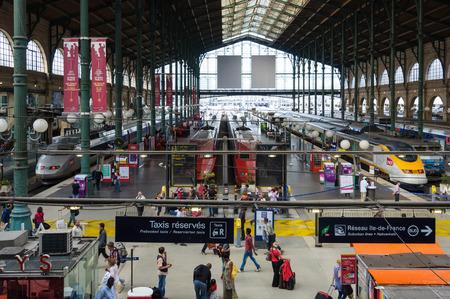 france station: PARIS, FRANCE - CIRCA AUGUST 2011: TGV
