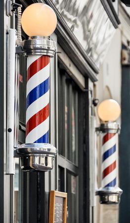 Kapperszaak teken in Parijs, Frankrijk Stockfoto
