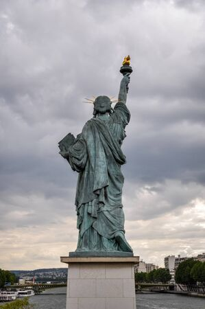 frederic: Statue of Liberty model in Paris, France Editorial