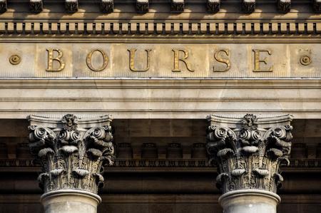 bolsa de valores: La bolsa de valores Bourse, París en Francia