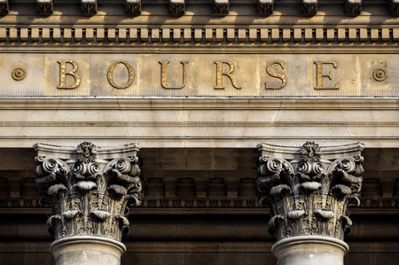 money exchange: The Bourse, Paris stock exchange in France Stock Photo