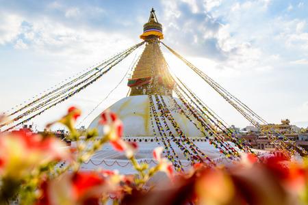 kathmandu: Bodnath stupa in Kathmandu in Nepal