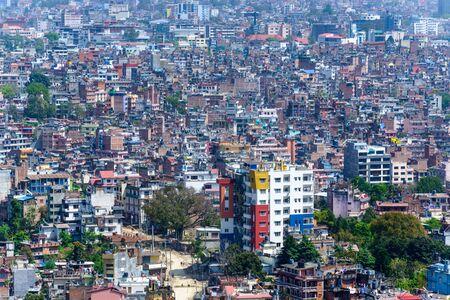density: Kathmandu city view from Swayambhunath, Nepal