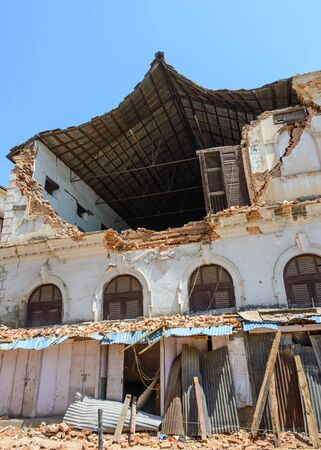 quake: KATHMANDU NEPAL  MAY 14 2015: A damaged building after two major earthquakes hit Nepal in the past weeks.