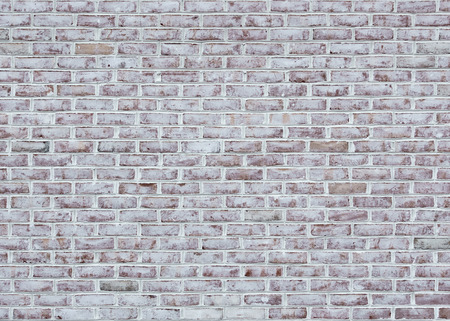 Whitewashed brick wall texture or background Foto de archivo