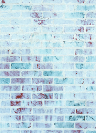 whitewashed: Whitewashed brick wall texture with blue and green hues