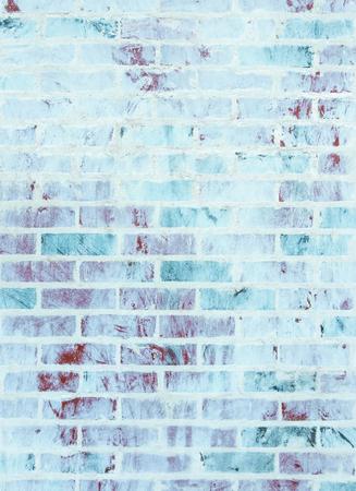 hues: Whitewashed brick wall texture with blue and green hues