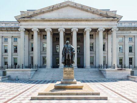 treasury: The Treasury Department building in Washington DC, USA