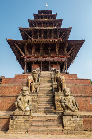 hinduist: Nyatapola temple in Bhaktapur, Nepal