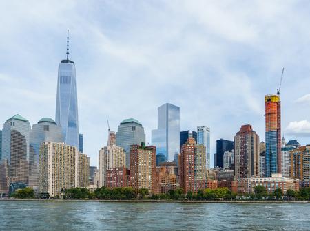 new construction: Lower Manhattan cityscape, New York City, USA