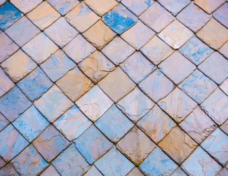 slate roof: Colourful slate roof texture