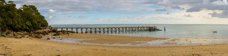 plage: Pier at Plage des Dames in Noirmoutier, France