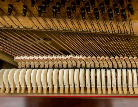 mechanism: Piano mechanism closeup Stock Photo