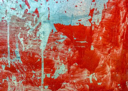 Grungy red metal sheet texture