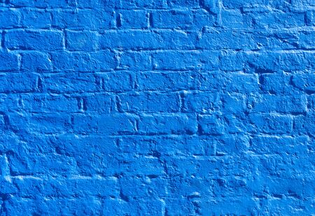 blue wall: Blue painted brick wall texture