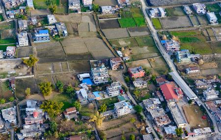 suburbs: Suburbs of Pokhara aerial view, Nepal