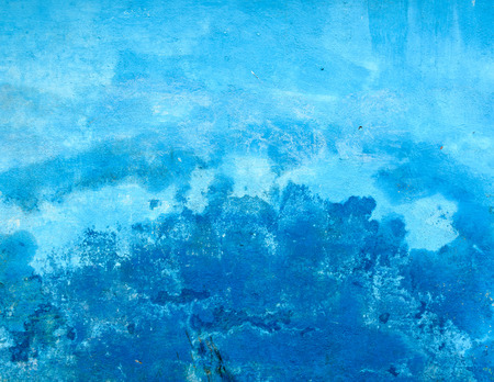 decrepitude: Grungy blue painted wall texture