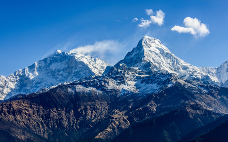 fish tail: The Machhapuchare ( Fish Tail ) seen from Poon Hill in Nepal