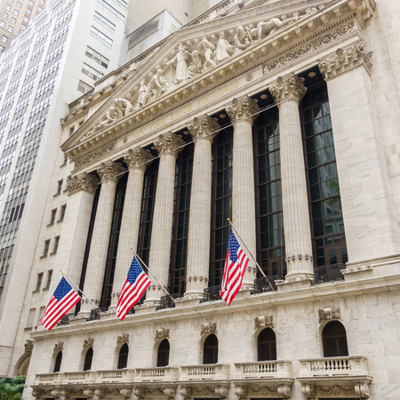 new york stock exchange: NEW YORK CITY, USA - CIRCA AUGUST 2015: The New York Stock Exchange on Wall Street is the largest stock exchange in the world. Editorial