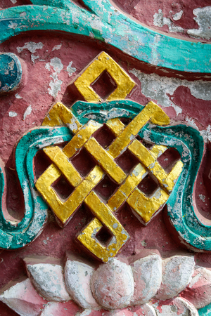 endless: Golden endless knot in Nepal