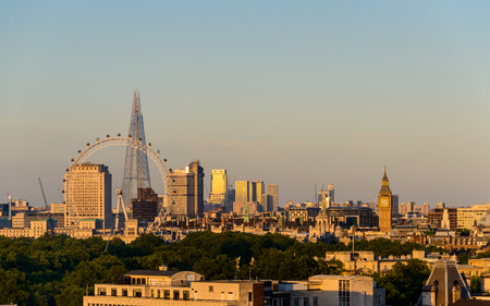 knightsbridge: LONDON, UK - CIRCA AUGUST 2013: London at sunset as seen from the Park Tower Knightsbridge. Editorial