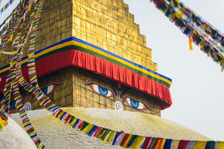 Boudhanath stupa in Kathmandu, Nepal Stock fotó