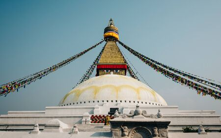 emulation: Boudhanath stupa in Kathmandu, Nepal. Film emulation filter applied.