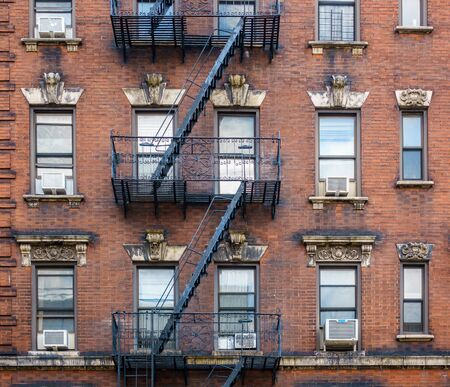 brick building: Brick building facade in New York City, USA