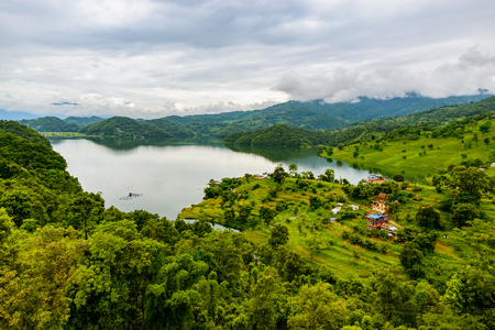 lowlands: Begnas Lake in the Pokhara valley, Nepal