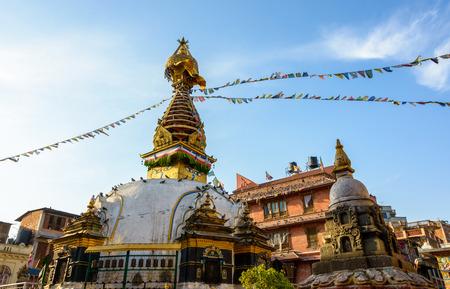 kathmandu: Kathesimbhu stupa in Kathmandu in Nepal Editorial