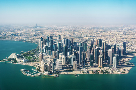 Aerial view of Doha, Qatar