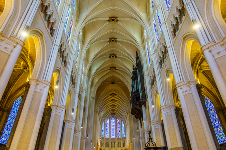 Interior of Chartres Cathedral in France