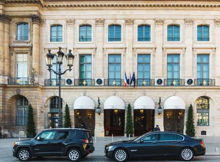 PARIS, FRANCE - CIRCA DECEMBER 2016: The Ritz Paris hotel on Place Vendome.