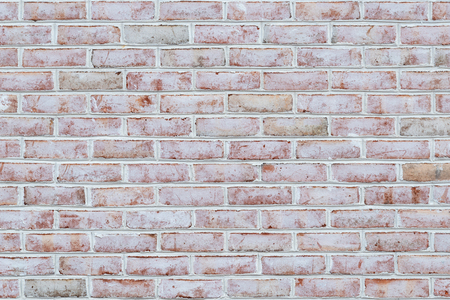 Whitewashed brick wall texture or background Stok Fotoğraf