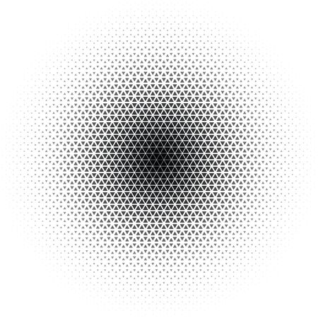 Triangle halftone circular gradient abstract background, vector illustration
