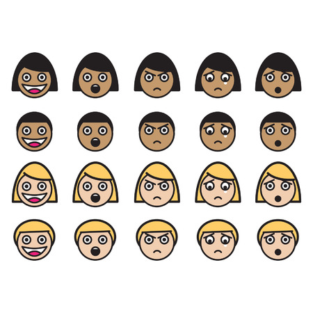 gezichts uitdrukkingen: gezichtsuitdrukkingen