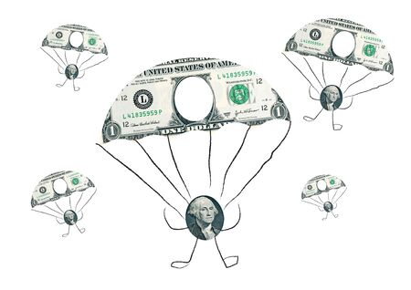 parachuting: Falling dollar