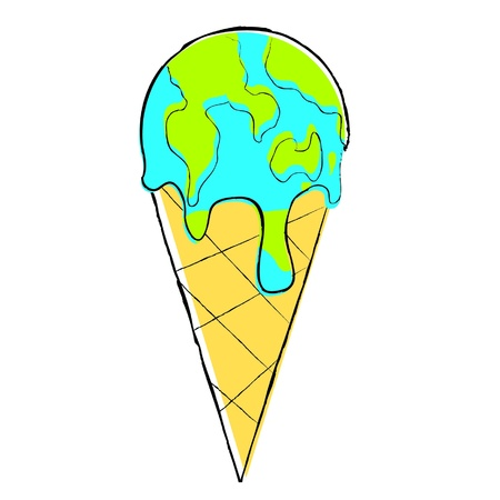 Global Melting Illustration