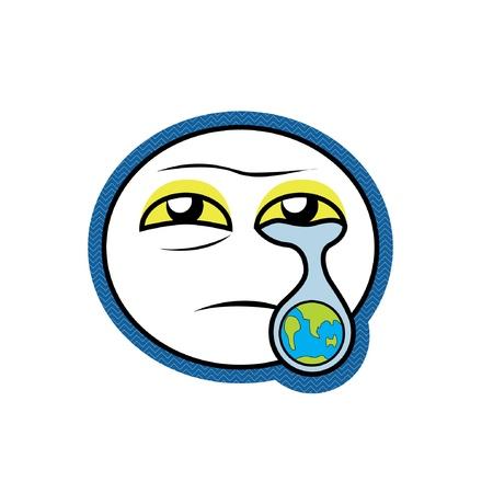 sad love: crying earth