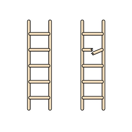 broken ladder Illustration