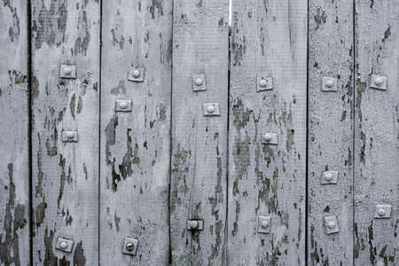 Textural background of white shabby boards 写真素材