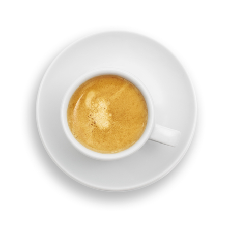 Espresso coffee cup isolated on white background.
