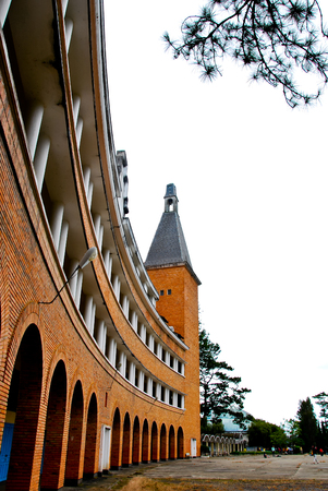 pedagogical: Building of Pedagogical College of DaLat, colonial architechture landmark of Dalat city, Vietnam
