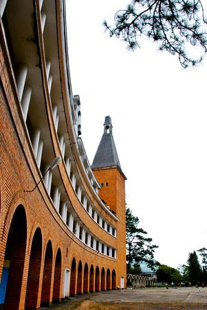 pedagogical: Building of Pedagogical College of DaLat, colonial architechture landmark of Dalat city, Vietnam