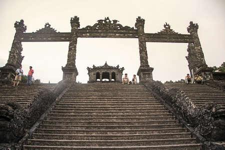 Thien Dinh Palace  UNESCO  in Hue, Vietnam