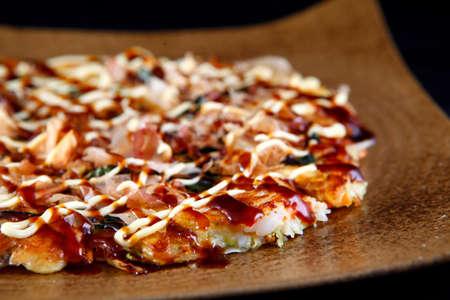 gastronome: Okonomiyaki pancakes Stock Photo