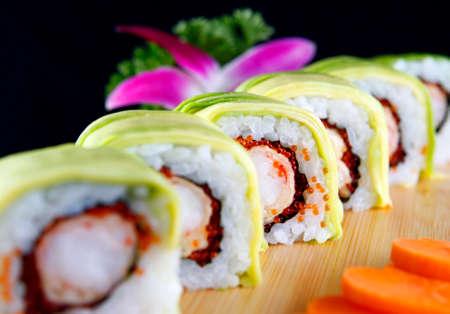 chese: Tempura of shrimp with chese Stock Photo