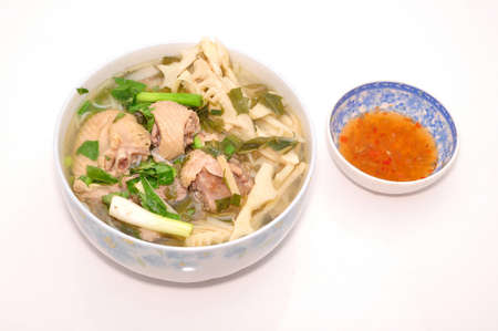 mang: Bun Mang Vit or Vietnamese Rice Vermicelli with Bamboo Shoots and Duck Salad