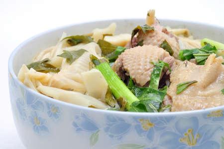 mang: Bun Mang Vit or Vietnamese Rice Vermicelli with Bamboo Shoots and Duck Salad