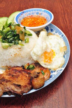 Vietnamese broken rice or Com tam